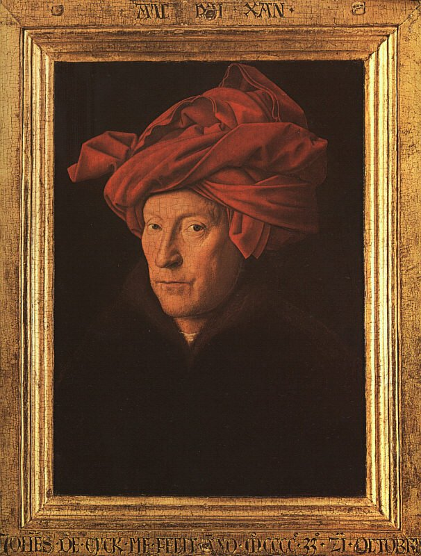 Man in a red turban (self-portrait) - 1433